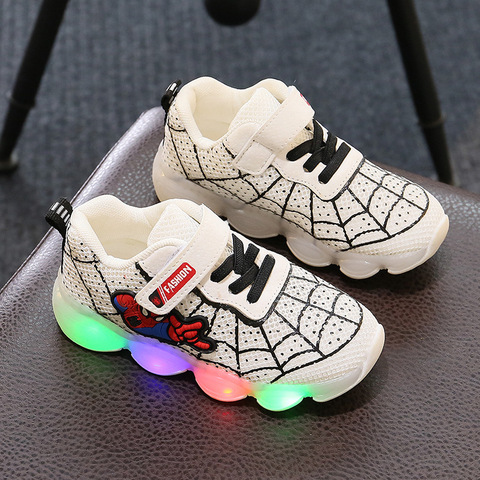 Fashion Toddler Girls Antiskid Shoes Cartoon Children boy sports Shoes With Light Kids Led Shoes Luminous Sneakers Lahore