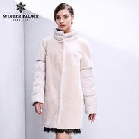 Real fur women fur coat Designer Collection sheepskin coat Women's sheepskin coat winter Wool Coat Double faced Fur