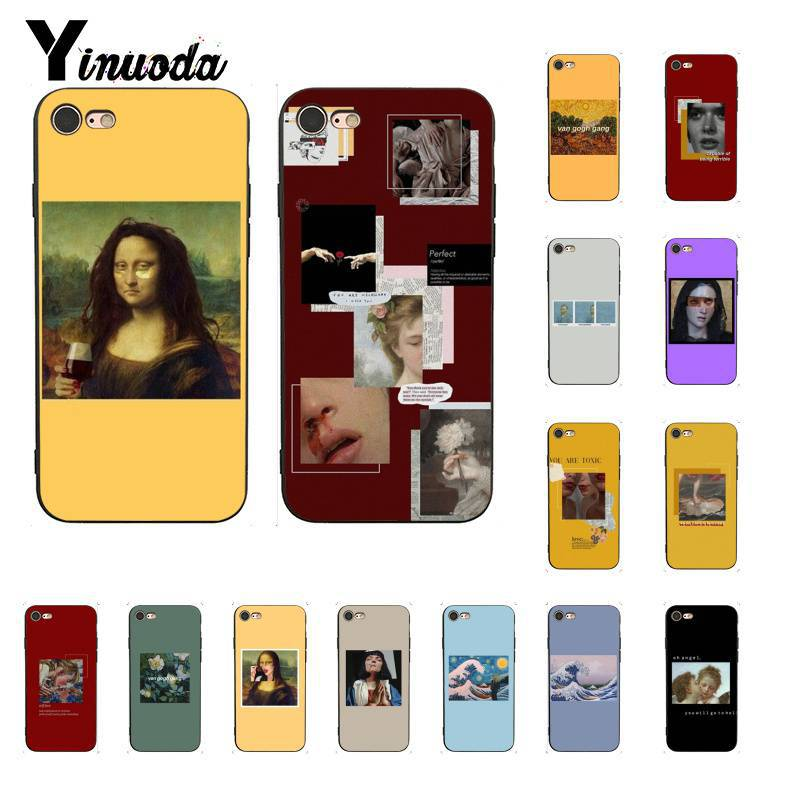 Yinuoda Great art aesthetic van Gogh Mona Lisa David <font><b>PhoneCase</b></font> for <font><b>iPhone</b></font> 6S 6plus 7 <font><b>7plus</b></font> 8 8Plus X Xs MAX XR 11 11pro 11promax image