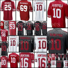 fb6a3bec4 10 Jimmy Garoppolo jersey 25 Richard Sherman 16 Joe Montana 80 Jerry Rice  53 NaVorro Bowman 56 Reuben Foster JERSEYS