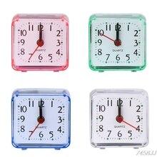 Mini Square Quartz Beep Alarm Clock Plastic Desk Table Travel Trip Portable G03 Drop ship