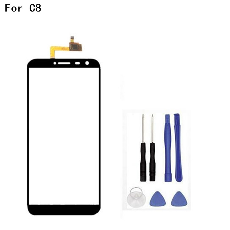 5.5 inch Touch Penal For Oukitel C8 Touch Screen Digitizer Panel Front Glass Lens Sensor+tools