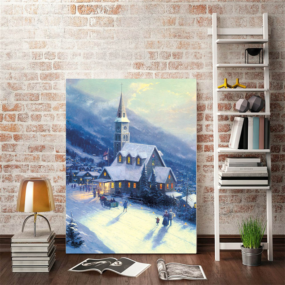 Unframed Canvas Prints European Building Wall Art Canvas Painting Prints Wall Picture For Living Room Wall Art Decoration