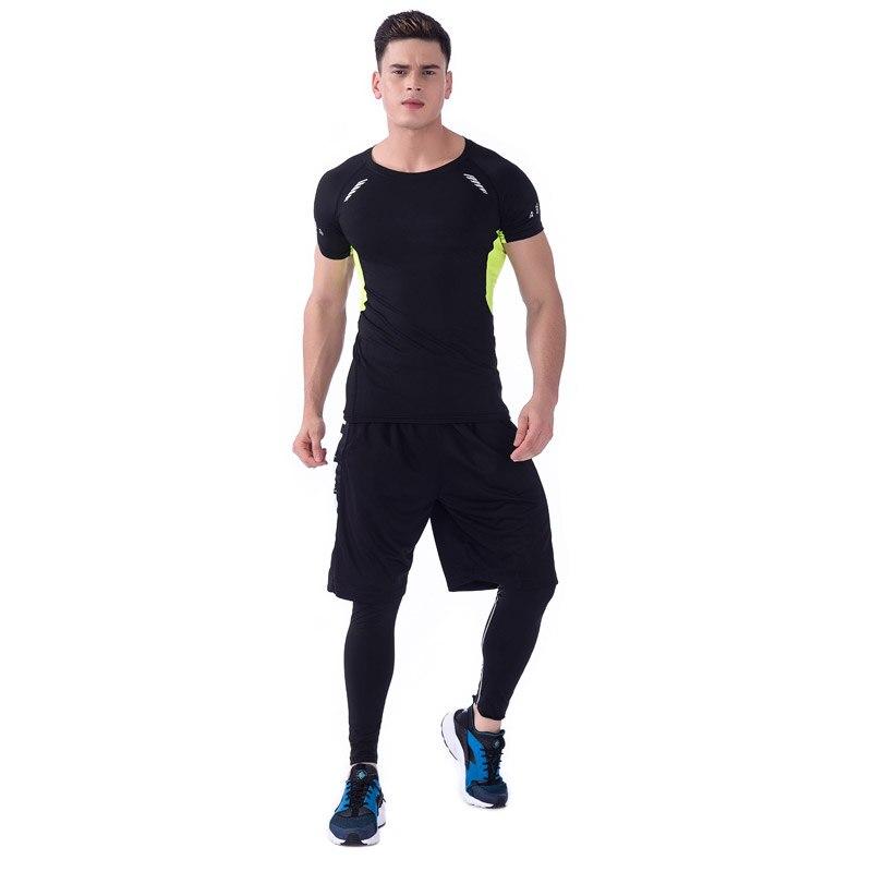 11db6d44e753a Ensemble de course à pied pour hommes 3 pièces Jogging entraînement  costumes Sport vêtements basket manches longues Gym Fitness collants  survêtement ...