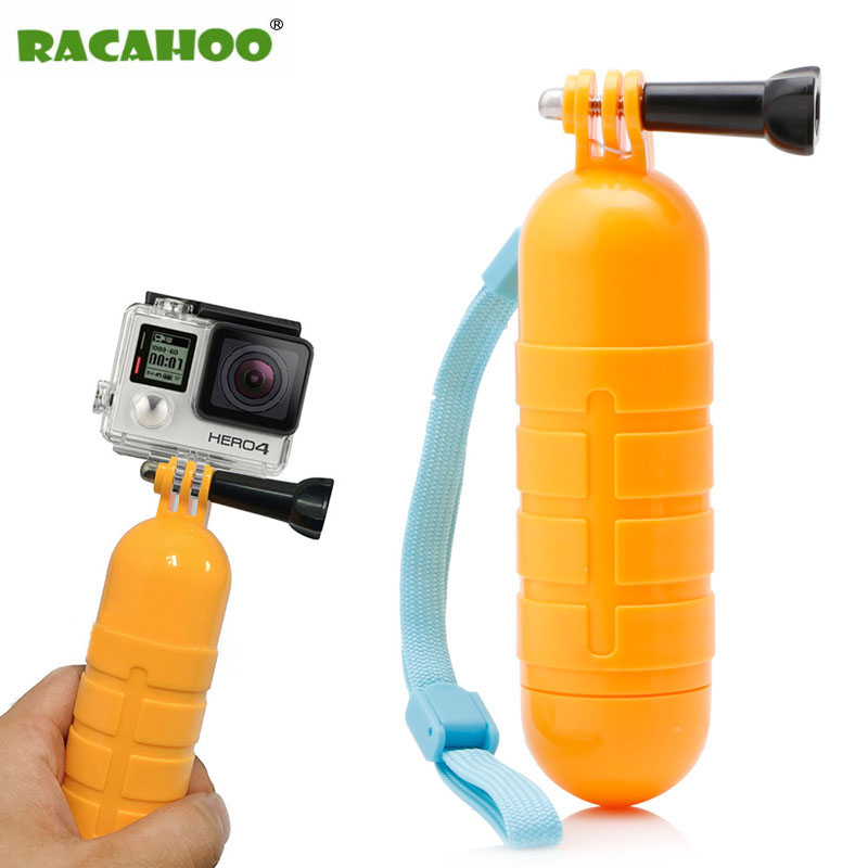 RACAHOO Non-slip Floating Handle Grip Float Hand Mount Accessories Waterproof Camera Strap For GoPro Hero 5+ 5 4/3 2 1 Camera ...