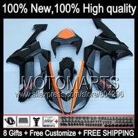 Black HOT Fairing Body For KAWASAKI NINJA ZX6R 07 08 ZX 6R ZX636 10K11 NEW Orange