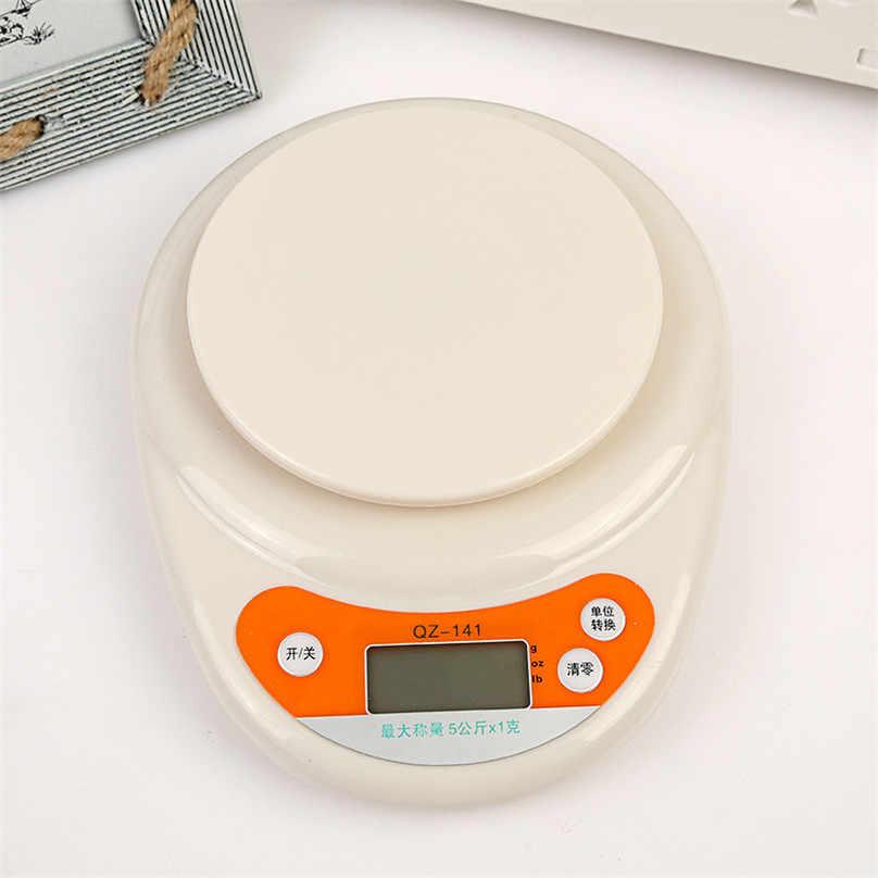 食品ダイエット郵便スケール家庭用キッチンスケール 5 キロ/1 グラムバランス測定ツールスリム液晶デジタル電子調理計量スケール