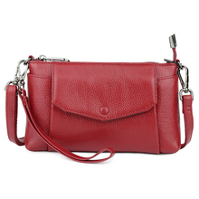 Guaranteed 100% Cowhide Leather Women Cross-body Bags 2019 Hot Brand Fashion Ladies Messenger New Arrivlas Cellphone Pouch