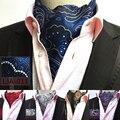 RBOCOTT Mens Ascot Fashion Paisley & Dot Ascot Tie For Men Formal Suit Shirt Luxury Jacquard weave Cravat Tie For Wedding Party