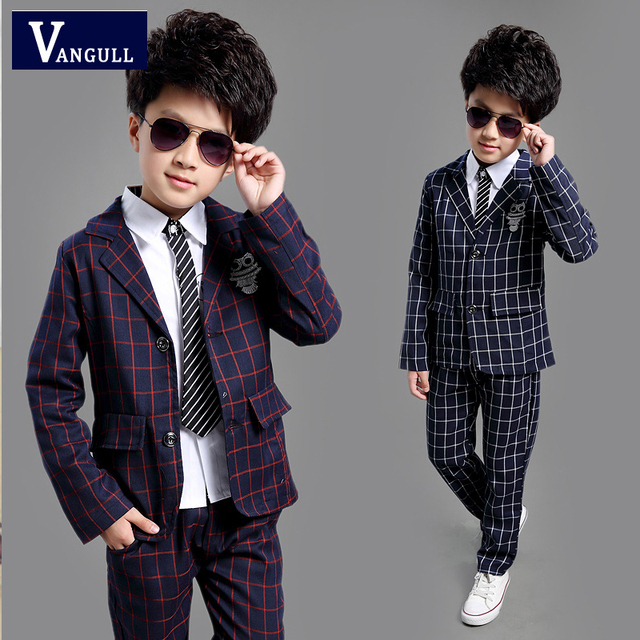 2016 new england childrens boys plaid small children in spring suit children two piece one generation