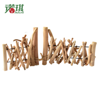 NUCHI Christmas Tree Wood Fence DIY Xmas Decora Ornament Protective Fence For Home Garden Decoration