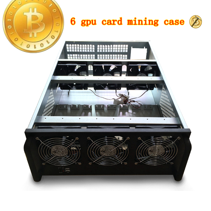 mining rig case USB miner cabinet rack 4u 6 graphics card computer sever cooling chassis for gtx 1060 1070 1080 Video card frame ...