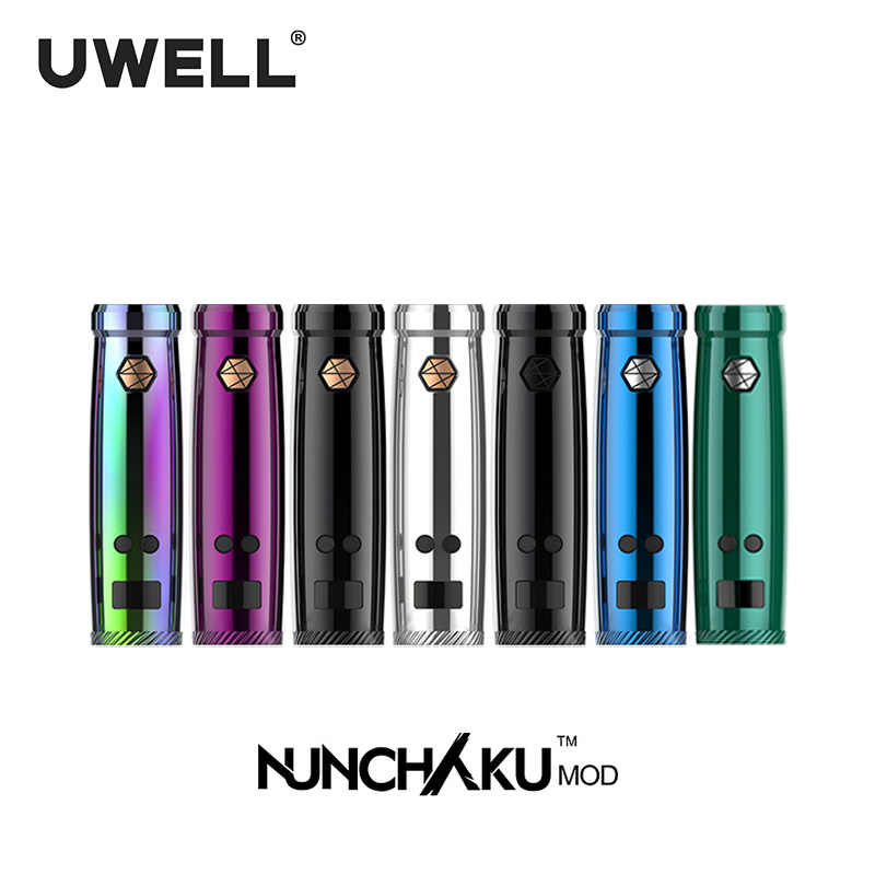 In Stock!! UWELL NUNCHAKU Mod 5-80W Power Mod Use 18650 Battery (no include) / USB Charge Suit For NUNCHAKU Electronic Cigarette 2pcs new original lg hg2 18650 battery 3000 mah 18650 battery 3 6 v discharge 20a dedicated electronic cigarette battery power