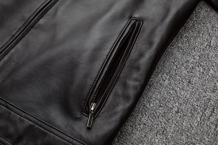 HTB1M8FaaEY1gK0jSZFCq6AwqXXaj Free shipping.classic casual style,Plus size soft sheepskin Jackets,men genuine Leather jacket.motor biker leather coat,sales