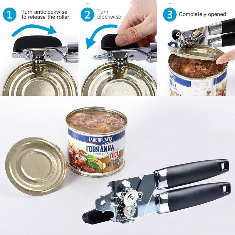 WALFOS высококачественный консервный нож из нержавеющей стали Профессиональный Эргономичный ручной консервный нож