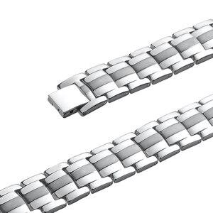 Image 4 - LITTLE FROG Men Jewelry Healing magnetic Bangle Balance Health Bracelet Silver Titanium Bracelets Special Design for Male 10212
