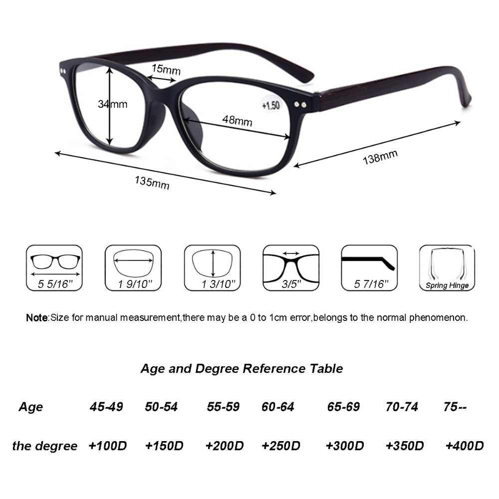 568b607120 ... Reading Glasses Men Women Vintage Frame Resin Material Wooden Elastic  Leg Glasses Diopter+1+
