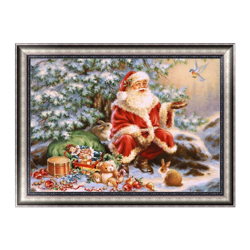 Christmas DIY 5D Diamond Painting Rhinestones Elf On The Shelf Navidad Decoraciones Para El Hogar American Christmas Decorations