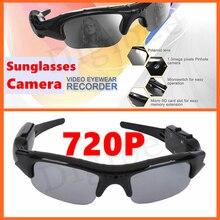 Nova Coolest HD 720 P Óculos Câmera Gravador de Áudio de Vídeo Digital Óculos de Vídeo Filmadoras Mini DV DVR Óculos De Sol Com Câmera