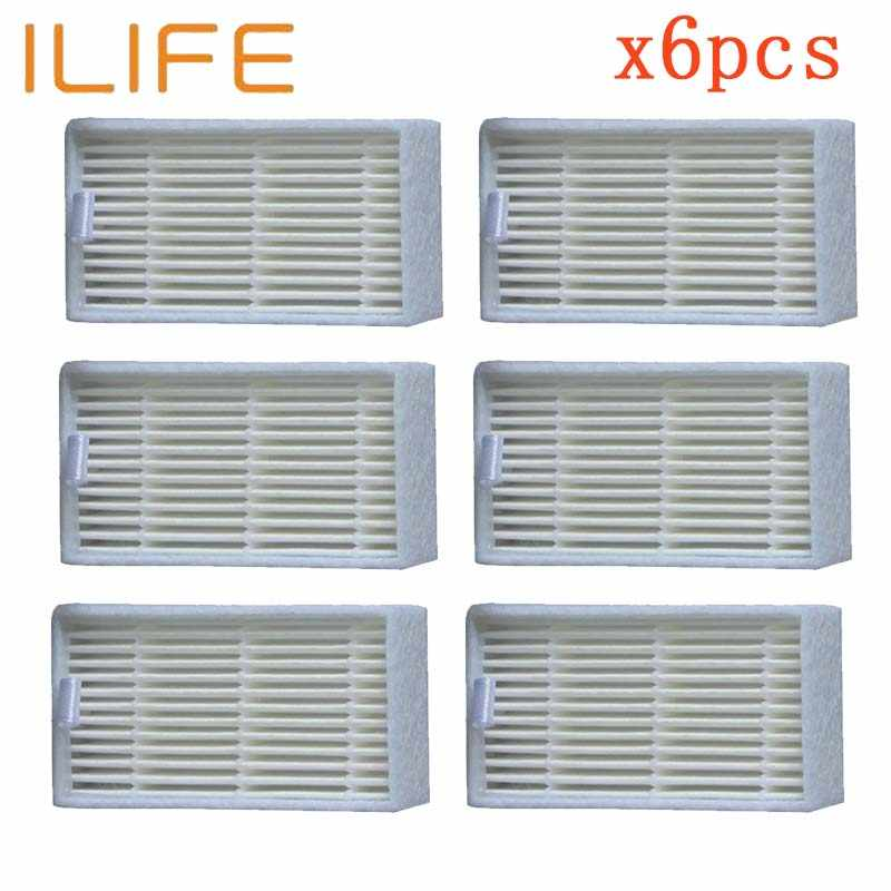 6 PCS HEPA Filter accessories for chuwi ilife V3s V5 V5s ilife v1 V3 v5 pro ilife V50 V55 Robotic Vacuum Cleaner parts