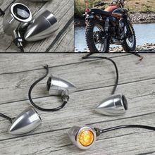 빈티지 cnc 알루미늄 led 신호등 오토바이 총알 회전 신호 표시기 카페 레이스 오토바이 부품