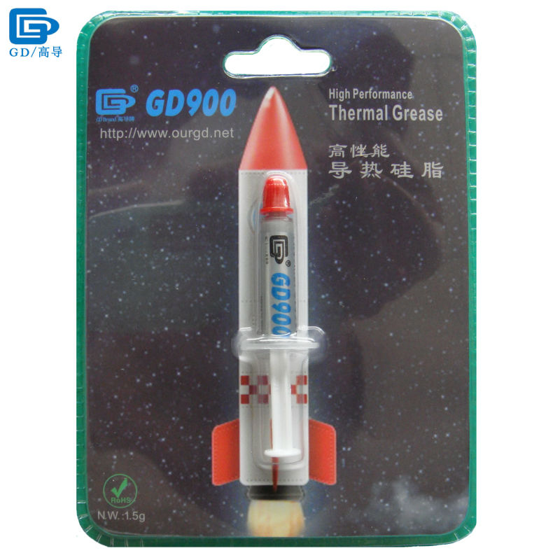 GD900 Thermal Conductive Grease Paste Silicone Plaster Heatsink Compound Net Weight 1.5 Grams High Performance For CPU PS4 BR1.5 injector style thermal conductive grease with silver paste 5ml
