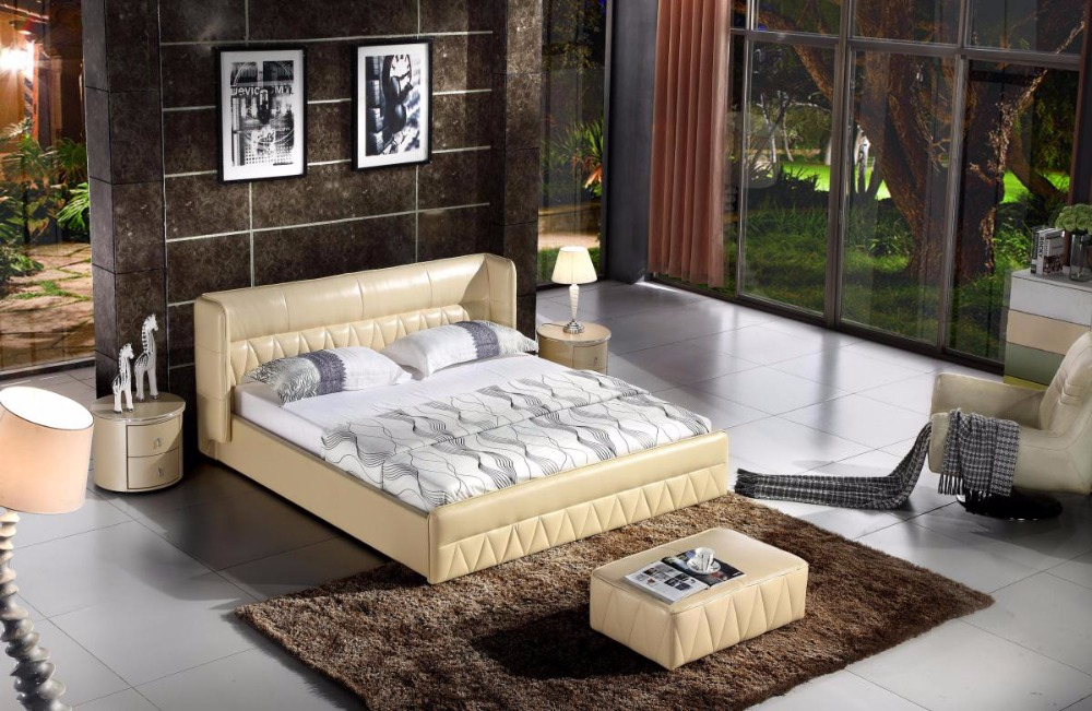 Yatak Bedroom Set Furniture 2018 Soft Bed Bedroom Furniture Muebles Para Casa Modern Cabecero Cama No Promotion King Hot Sale