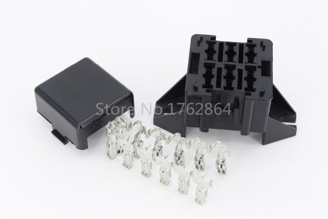 6 way auto fuse box assembly with terminals dustproof fuse box Chevy Fuse Box Mount  1997 Ford Explorer Fuse Box Diagram Fuel Pump Mount 06 F150 Fuse Box Diagram