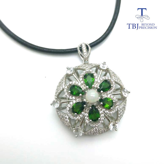 Tbjstylish design natural chrome diopside with opal big gemstone tbjstylish design natural chrome diopside with opal big gemstone pendant in 925 sterling aloadofball Images