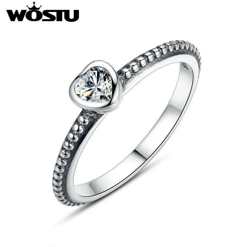 14da3316e947 Aliexpress Venta caliente de plata amor corazón anillos para las ...