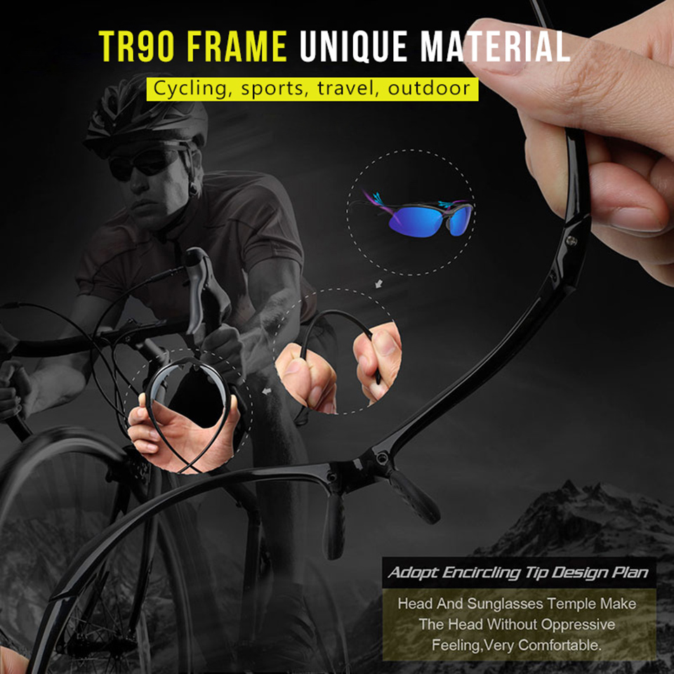 Brand Classic Outdoor Sport Polarized Sunglasses Men Women Driving TR90 Frame Male Sun Glasses Goggles UV400 Gafas gafas de sol