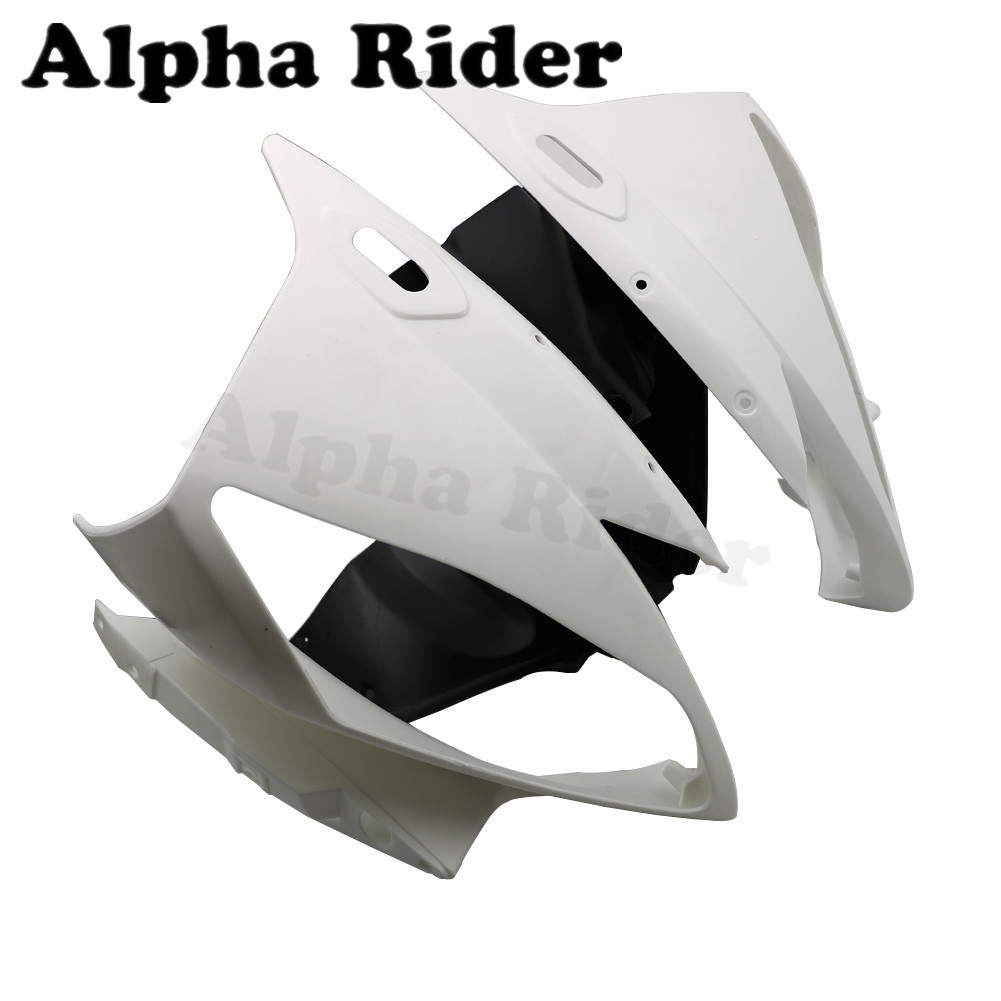 ZXMOTO Motorcycle Unpainted Front Upper Tail Fairing Cowl w//Front Lower Tail Fairing Cowl for YAMAHA YZF R6 2008 2009 2010 2011 2012 2013 2014 2015 2016