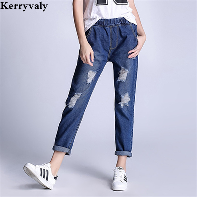 English Style Blue Skinny Jeans Women 2017 Hole Cotton Denim Pants 5XL Plus Size Trousers Fringe Jean Boyfriend Femme 71232 смартфон highscreen fest xl pro blue