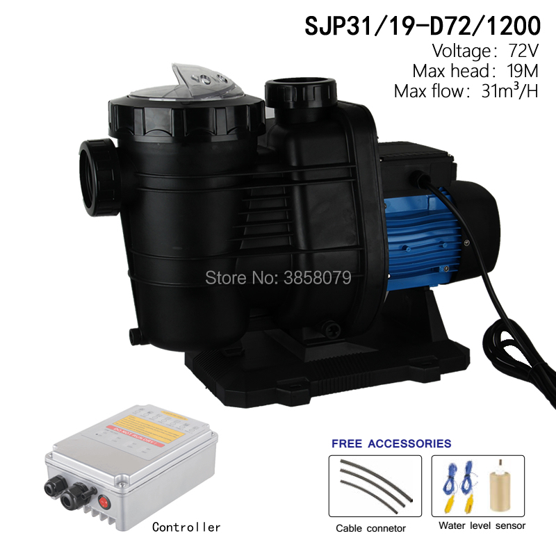 72V 1200watts Solar DC Swimming Pool Pump , solar powered pool pump, circulation pump SJP31/19-D72/1200