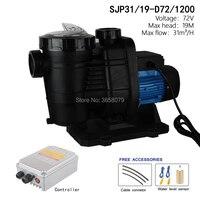 72V 1200watts Solar DC Swimming Pool Pump , solar powered pool pump, circulation pump SJP31/19 D72/1200