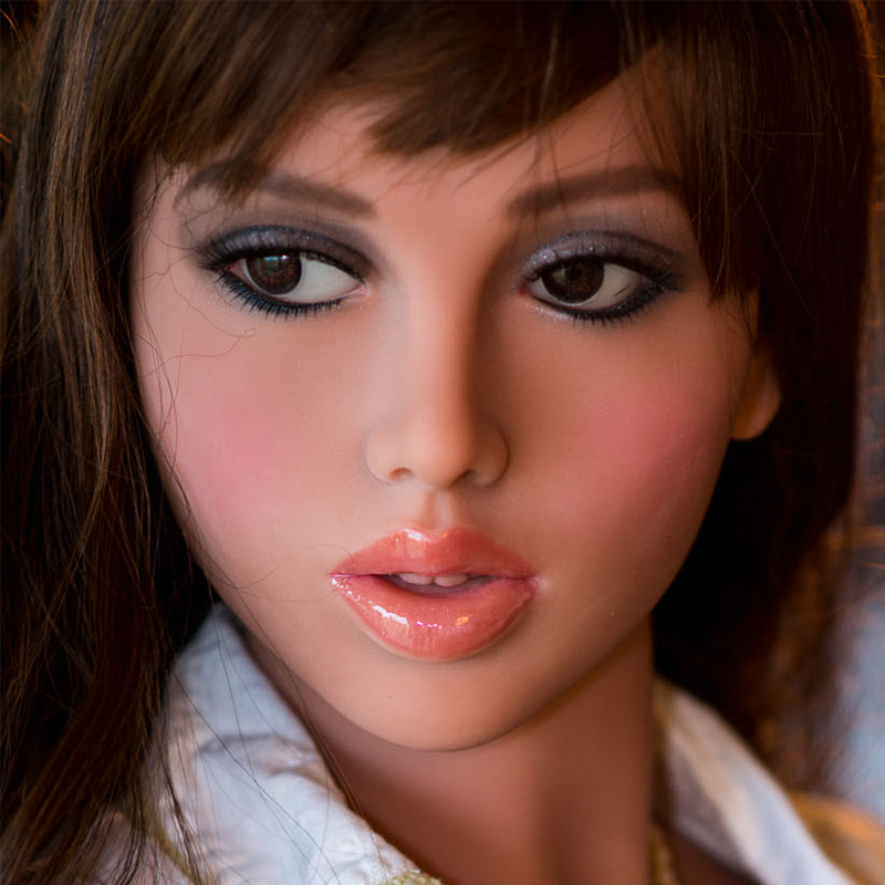 Oral Sex Doll Head for 140cm to 176cm Full Size Real Doll with M16 Screw Thread
