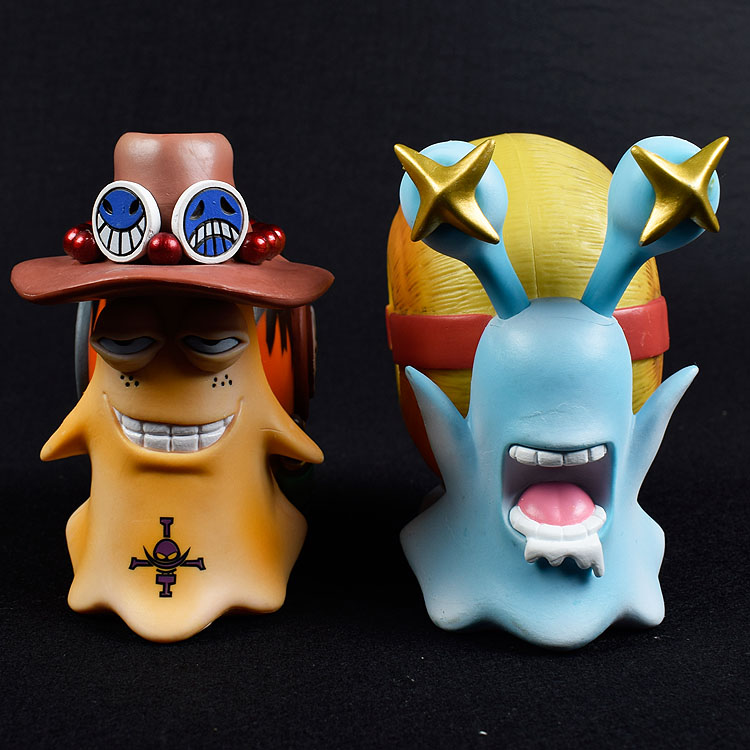 ONE PIECE Den Den Mushi Figures Ace Luffy Mingo Law Toys Anime Model figure