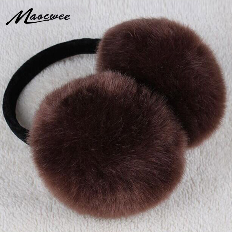 Fashion Faux Rabbit Fur Women Earmuffs For Brand Winter Earmuffs Comfortable Warm Ear Cover Ear Warmers For Girls Adjustable
