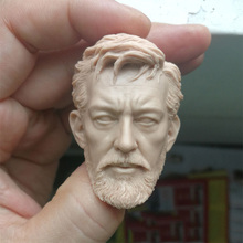 1/6 Obi Wan Kenobi Unpainted Head for 12''Bodies Action Figures Toys Gifts