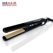 Cheapest prices Professional High quality Titanium Ceramic Hair Straightening Hair Straightener Iron Black-Fast shipping