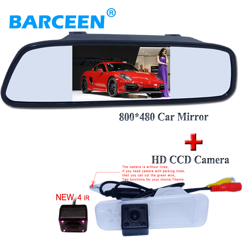 Factory direct sale Car LCD monitor Color Car Rearview Monitor for Car Reverse camera for KIA K2 Rio Sedan
