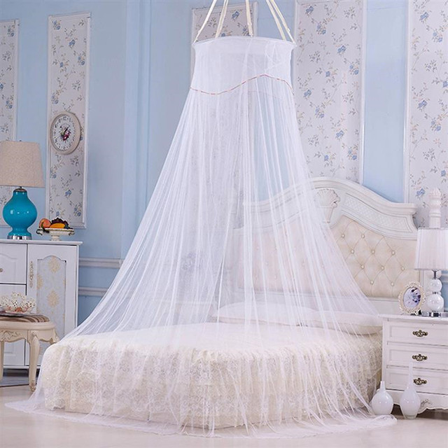 Palace Round Mosquito Net Lace Ceiling Bed Netting With
