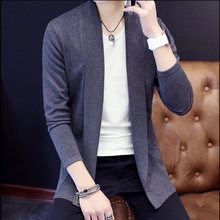 Mens Cardigan Sweater Jumpers 2019 Fashion Sueter Hombre Cardigan Sweaters Men Coats Casual Slim Long Sleeve Sweater Pull Homme