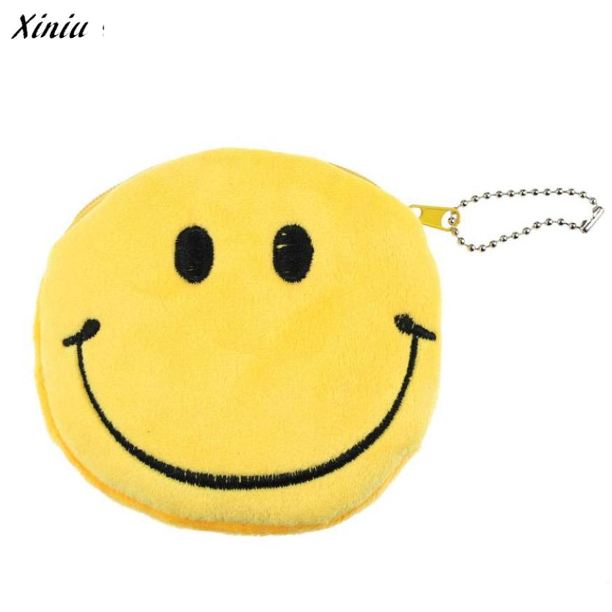 Small Wallet Emoji Smile Emotion Purse Women Lovely Purse For Coins Small Wallet Bag Gift Cute Wallets Portemonnee#99