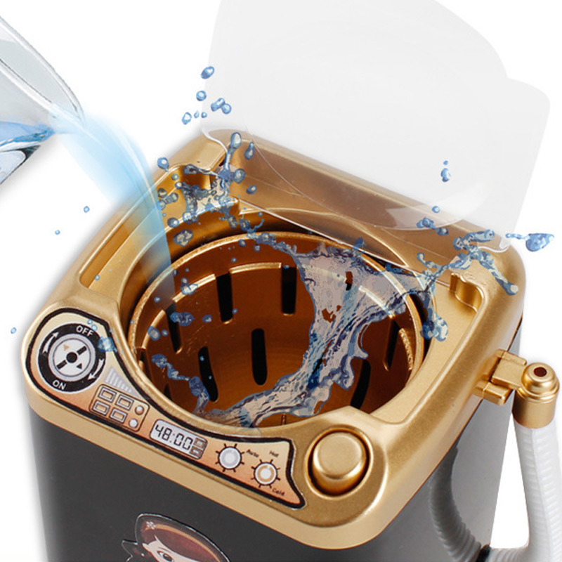 Multifunction Gold Blender Washing Machine Kids Washing Machine Toy Beauty Sponge Brushes Makeup Brush Cleaning Electric Washer