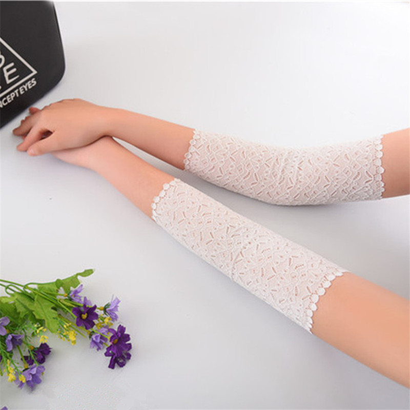 Women Lace Arm Cuff Summer Sleeves Arms Black Scar Cover Ladies Driving Gloves Floral Arm Warmers UV Sun Sleeves Tattoo Sleeve