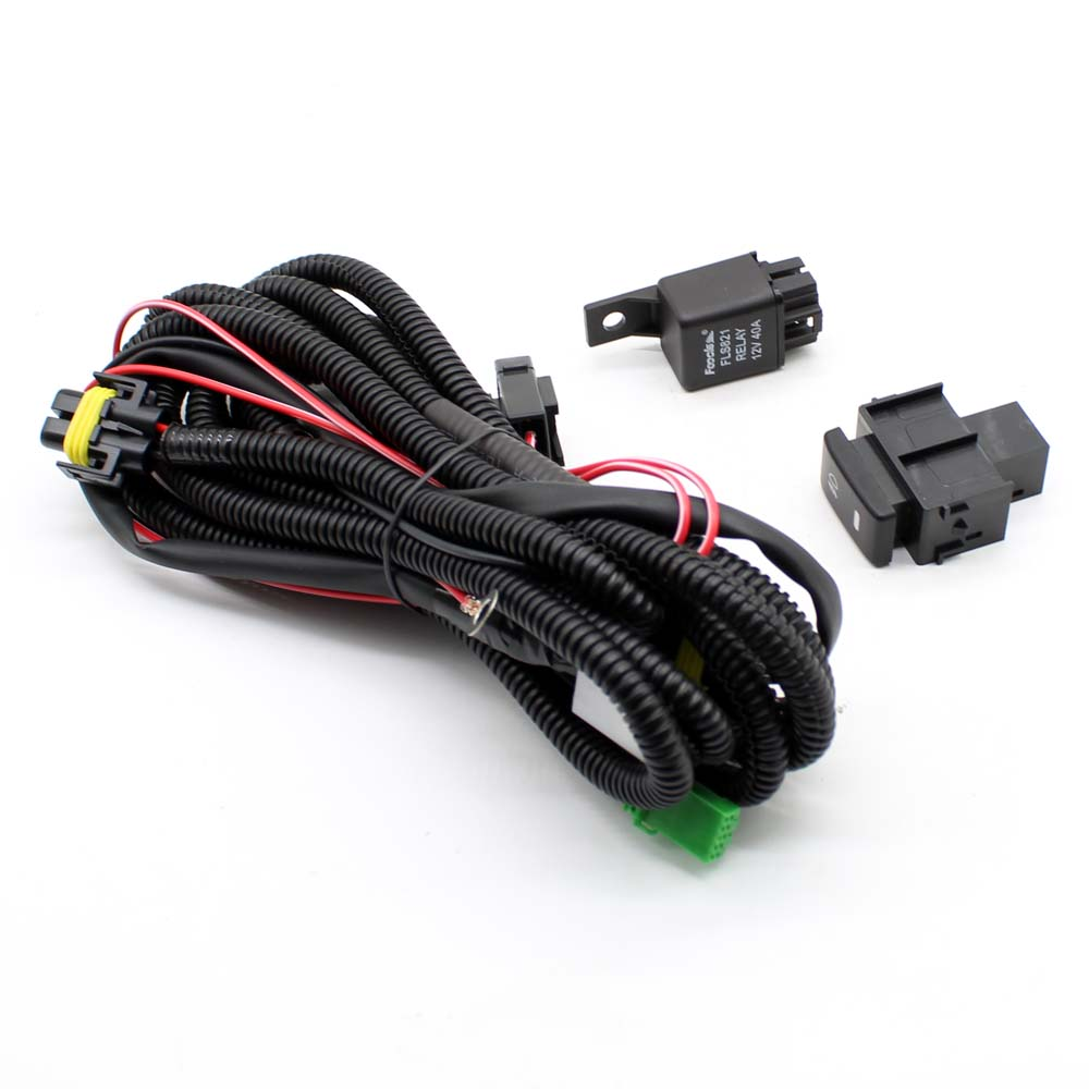 Wiring Harness Sockets Wire+Switch with LED indicators for Fog Light Lamp  for Nissan Sentra for Nissan Sunny for Nissan Tsuru-in Car Light Assembly  from ...