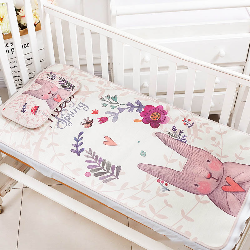 1pc Large Size Baby Mattress Cute cartoon Animal Pad Cool Mattress Breathable Machine Washable Mattress 70*120CM