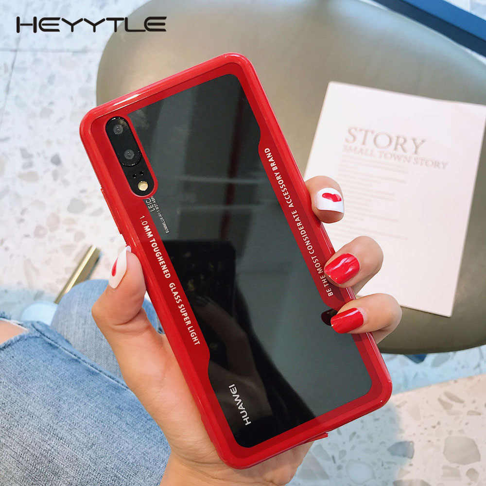Heyytle Transparent Case For Huawei P20 P30 Pro Mate 10 20 Lite Nova 3 3i 4 Shockproof Glass Cover For Honor 8x 10 Y9 Case Funda