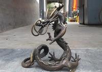 Китайский чистый красный Бронзовый Утонченная Dragon Royal украшение статуя бесплатная доставка